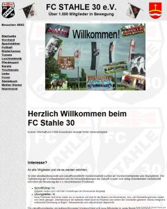 FC Stahle 30 Webseite