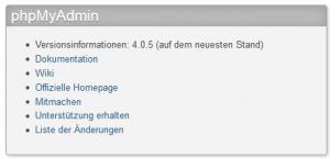 phpMyAdmin 4.0.5